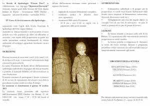 3º Corso di avvicinamento alla speleologia