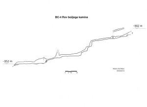 BC-4 Rov božjega kamina (spaccato)