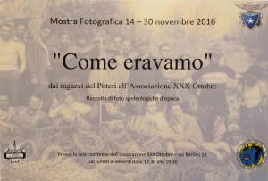 """Mostra fotografica """"Come eravamo"""" dai ragazzi del Pitteri all'Associazione XXX Ottobre"""