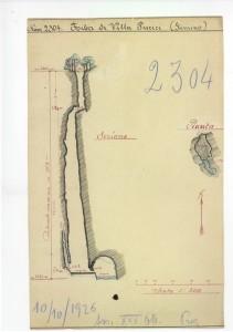vg 2304: rilievo originale a mano di Cesare Prez